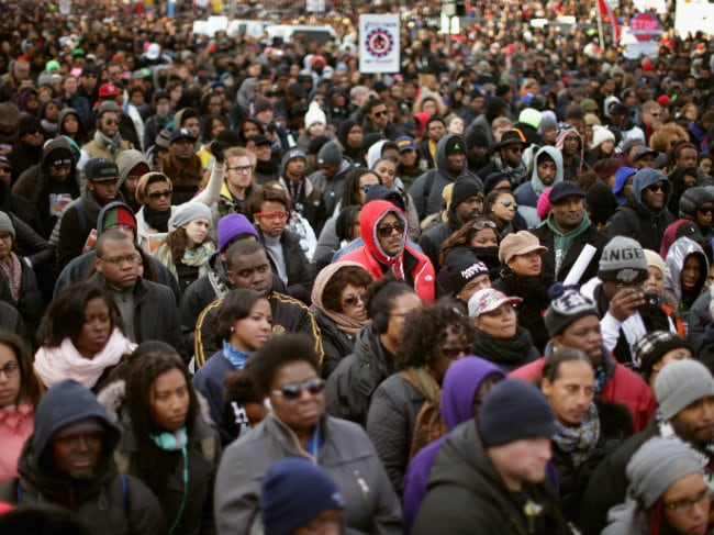 Tributes, Protests Mark Martin Luther King Jr Day in US