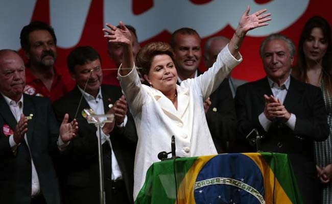 Brazil's President Dilma Rousseff Sworn in For Second Term