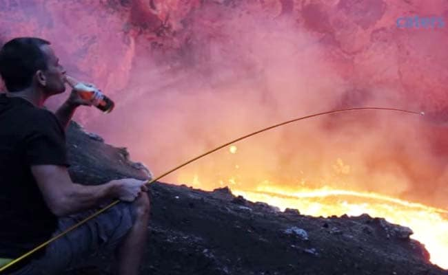 This Man Shows You How to Roast Marshmallows on an Active Volcano Like a Boss