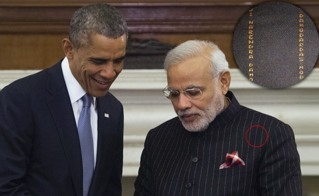 PM Modi's Suit Had His Name. Everywhere.