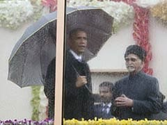 Obamas' Enclosure for Republic Day: Bullet Proof but not Weather Proof
