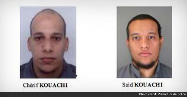 Police Hunt Brothers After Paris Attack, Third Man Hands Himself in