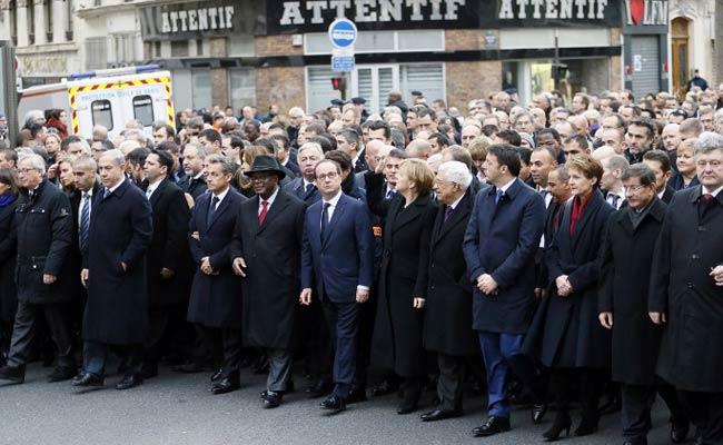 Defiant Paris Begins Historic Unity March Against Terror