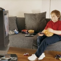 Eating in Front of TV Drives Snacking