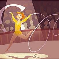 London 2012 Rhythmic Gymnastics: The Swirling Google Doodle