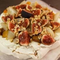 Angela Hartnett's Pavlova With Poached Fruits Recipe