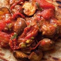 Nigel Slater's Spiced Mushrooms on Naan Recipe