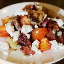 Angela Hartnett's Goat's Cheese Salad With Slow-Grilled Tomatoes and Onions Recipe
