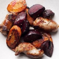 Nigel Slater's Sausage and Beetroot Recipe