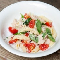Angela Hartnett's Penne With Tuna and Cherry Tomatoes Recipe