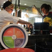 New Hampshire college uses printed plates to promote healthy eating