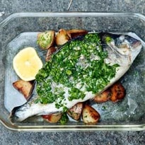 Angela Hartnett's Stuffed Bream With Sauteed Potatoes Recipe