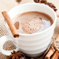 Hot chocolate with a kick