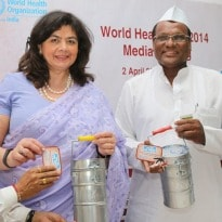 Message drive by Mumbai dabbawalas for World Health Day
