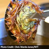 For Passover, Fried Artichokes