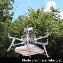Mumbai Restaurant Uses Drone to Deliver Pizza