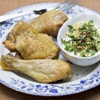 Jack Monroe's Lemon Chicken and Herb Yoghurt Recipe