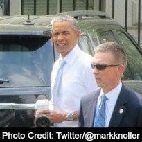 Watch Obama Making a Coffee Shop Run, Avoiding Press