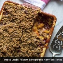 Learn How to Make and Bake a Peach Crumble