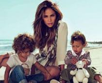 J Lo's twins, age 2, model for Gucci