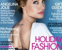 Jolie poses in racy corset  on Vogue