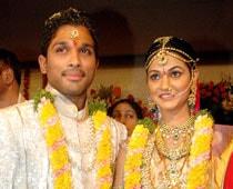 Newlyweds Allu-Sneha Visit Tirupati