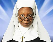 Whoopi Goldberg was a nun in previous birth