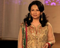 For the first time, ghagra clad Sharmila walks the ramp