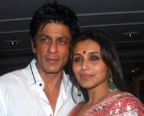 SRK celebrates Ganesh Chaturthi at Rani's house