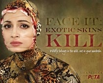 Dia Mirza poses in ad against animal skin trade