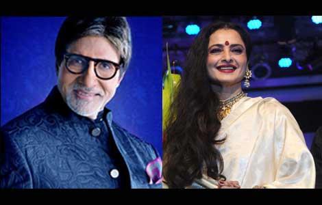 No qualms working with Rekha: Big B