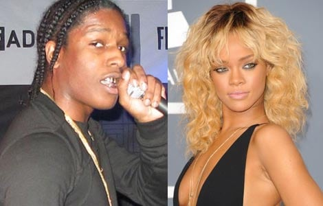 Rihanna flirts with rapper A$AP Rocky
