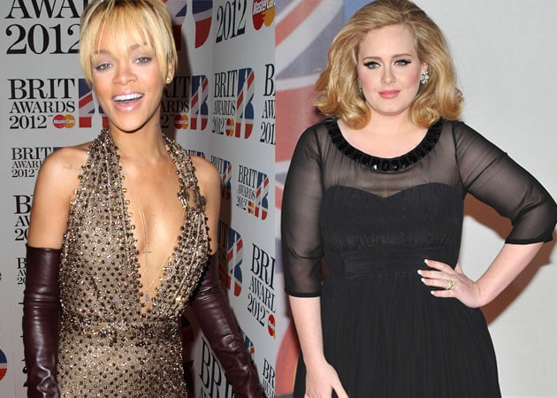 Rihanna presents Adele with x-rated birthday cake