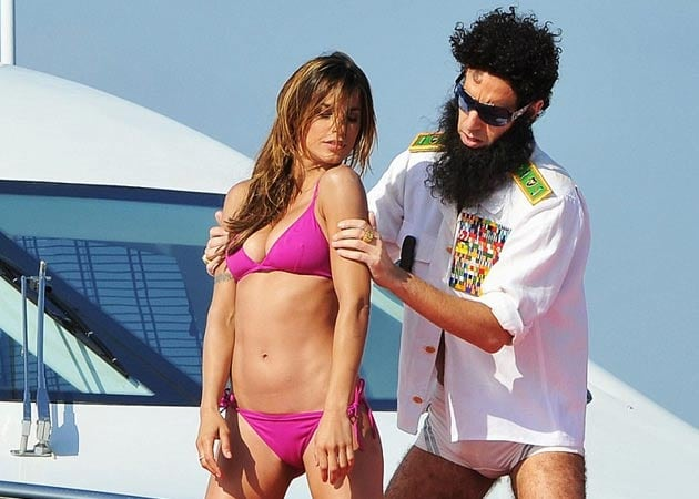 Clooney's ex caught frolicking with <i>The Dictator</i>
