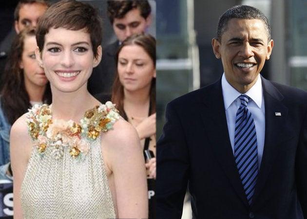 Anne Hathaway's famous fan: President Obama