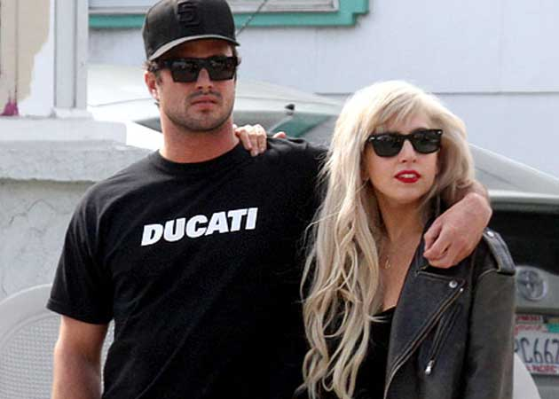 Lady Gaga and Taylor Kinney celebrated their first anniversary with a dinner date