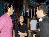 Parineeti Chopra and Arjun Kapoor meet Karan Johar on the sets of <i>Jhalak Dikhhla Ja</i>