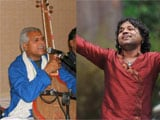 Kailash Kher collaborating with folk singer Prahlad Tipanya