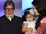 Polio campaign spokesperson Amitabh Bachchan takes Aaradhya for her vaccine