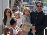 Brad Pitt lets his kids have food fights in restaurants