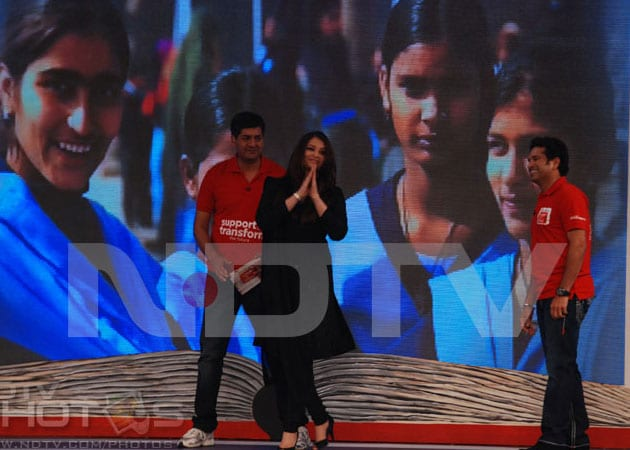 Sachin Tendulkar, Aishwarya Rai help raise Rs 13.6 crore to fund schools