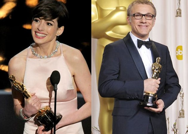 Anne Hathaway, Christoph Waltz, Amour win as Oscars share out the honours