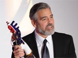 George Clooney accepts German Prize for humanitarian efforts