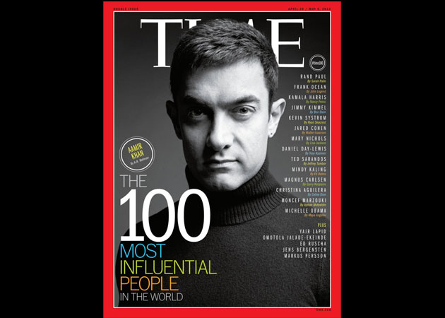 Aamir Khan is on Time magazine's 100 Most Influential People list