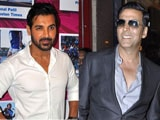 John Abraham signs <I>Welcome Back</i>, says Akshay Kumar happy for him