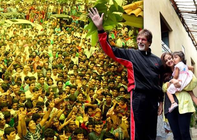 When Aaradhya met grandpa Amitabh Bachchan's fans