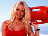 Pamela Anderson hits the beaches of Portugal