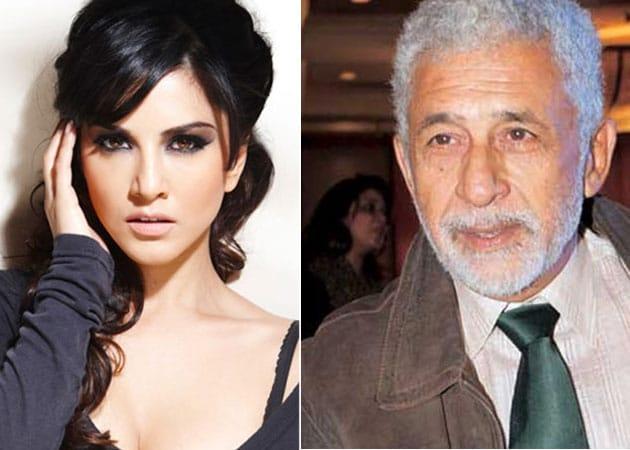 Sunny Leone gets tips from Naseeruddin Shah