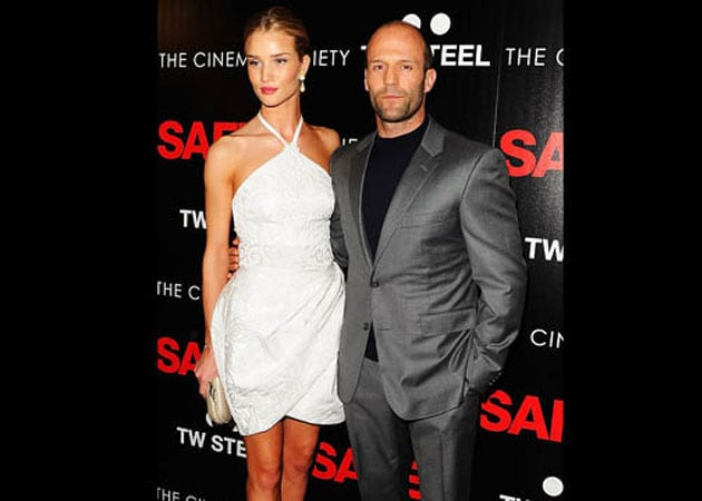 Rosie Huntington-Whiteley and Jason Statham on a