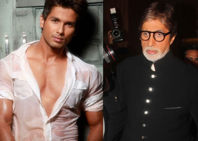 Shahid Kapoor makes Big B groove on KBC
